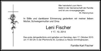 Zur Gedenkseite von Leni