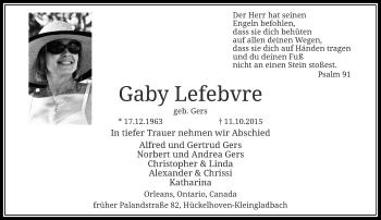 Zur Gedenkseite von Gaby