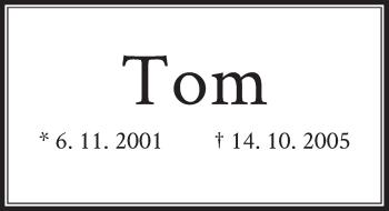 Zur Gedenkseite von Tom