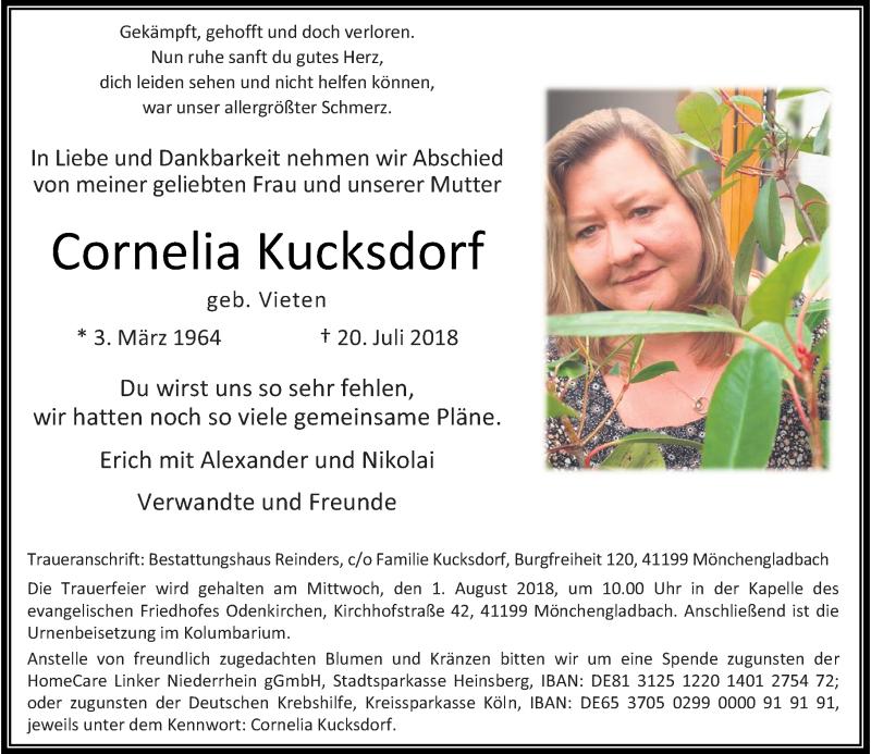 Anzeige von  Cornelia Kucksdorf