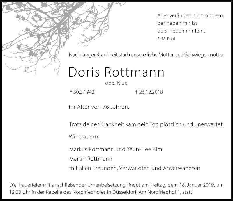 Anzeige von  Doris Rottmann