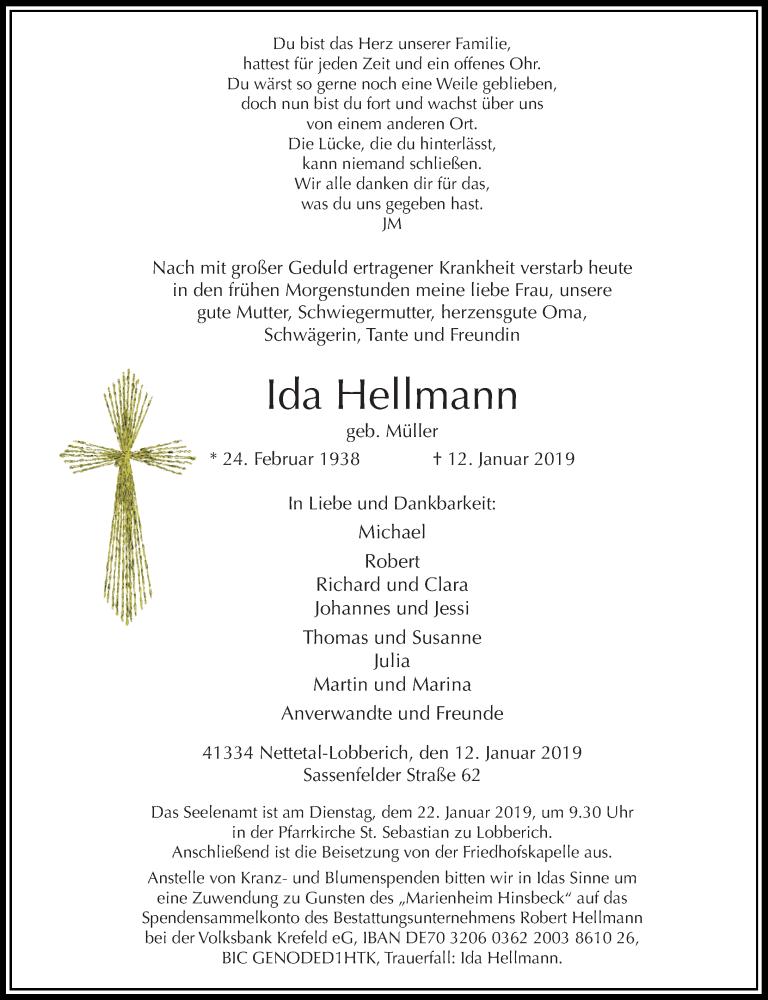 Anzeige von  Ida Hellmann