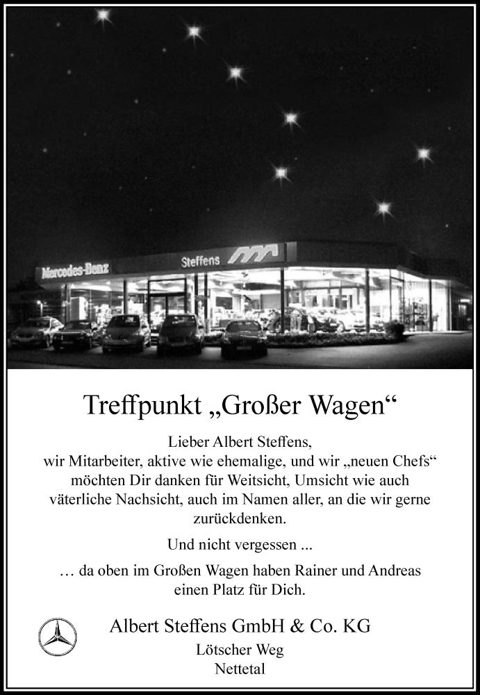 Anzeige von  Albert Steffens