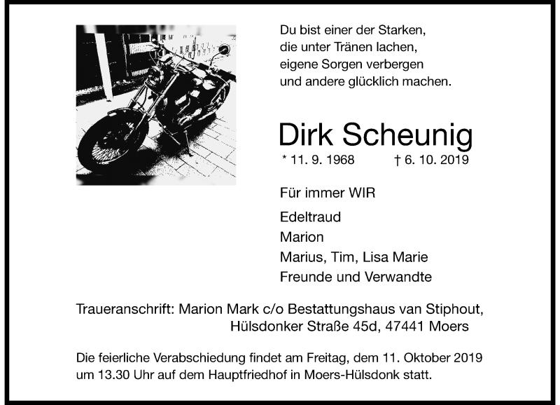 Anzeige von  Dirk Scheunig