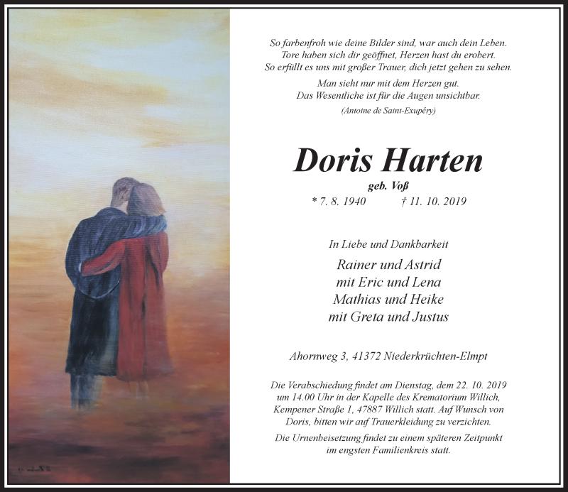 Anzeige von  Doris Harten