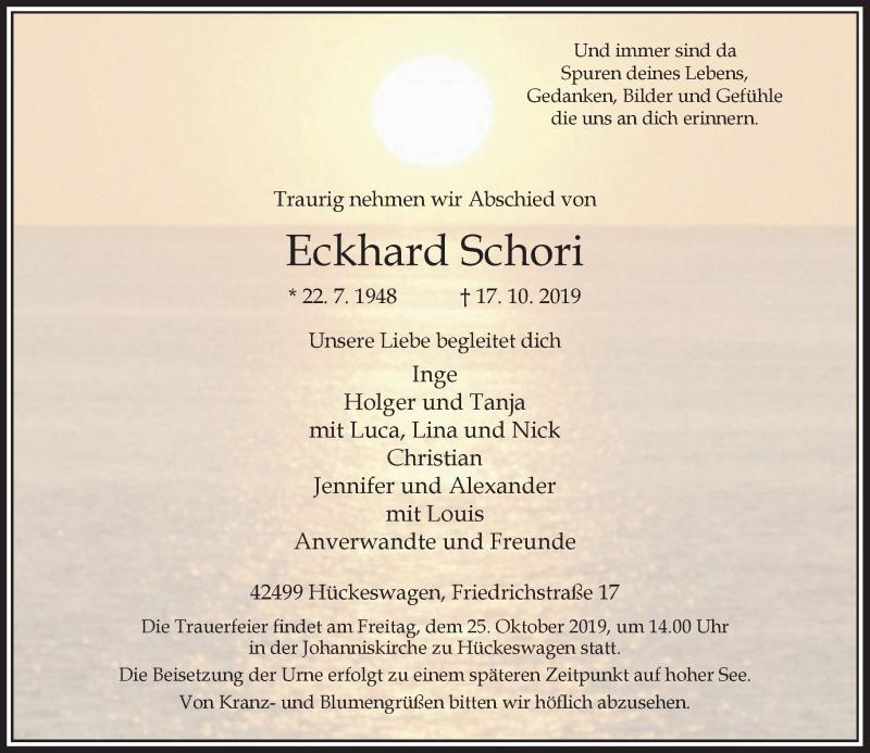 Anzeige von  Eckhard Schori