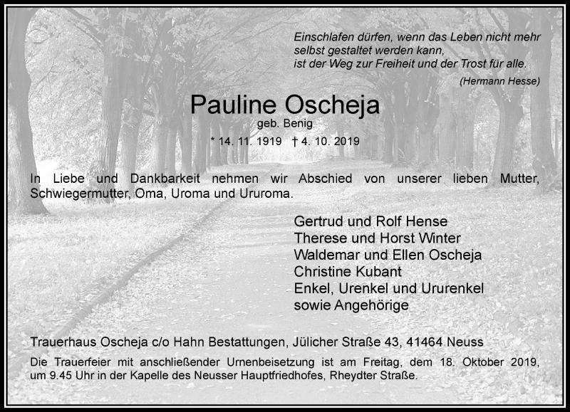 Anzeige von  Pauline Oscheja