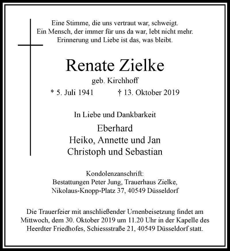 Anzeige von  Renate Zielke