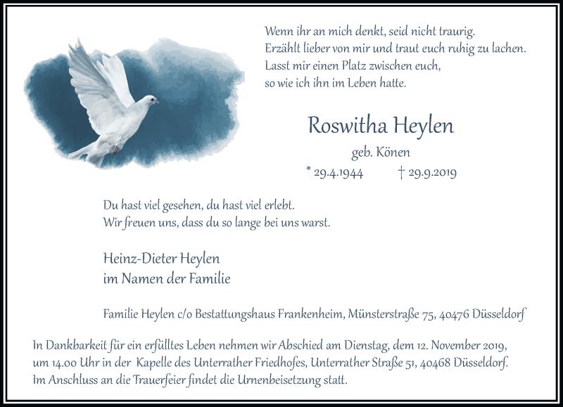 Anzeige von  Roswitha Heylen