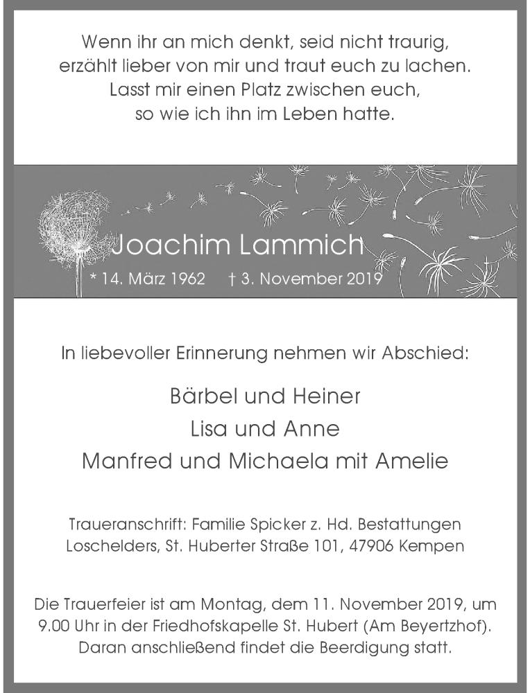 Anzeige von  Joachim Lammich