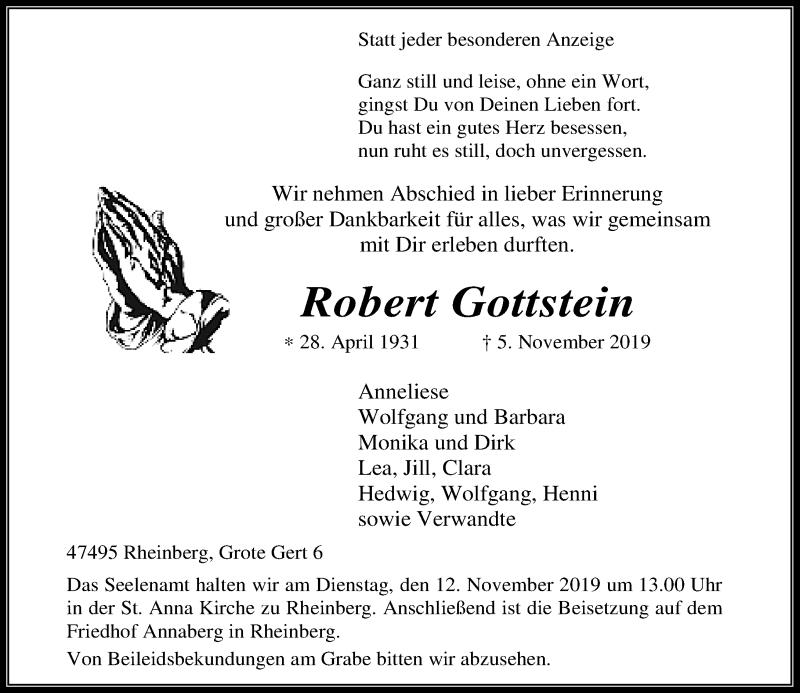 Anzeige von  Robert Gottstein