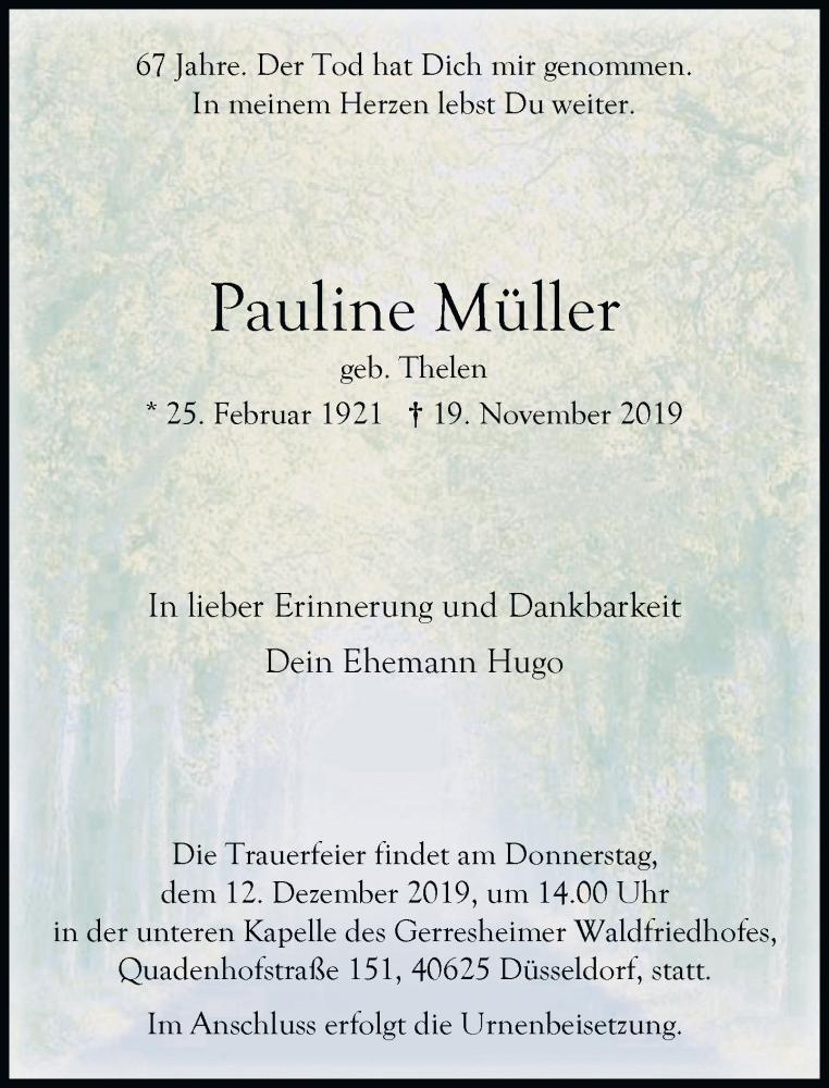 Anzeige von  Pauline Müller