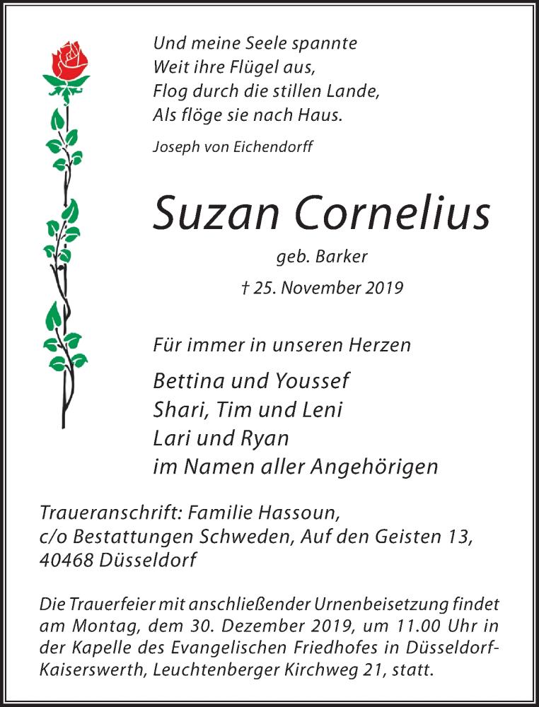 Traueranzeige für Suzan Cornelius vom 21.12.2019 aus Rheinische Post