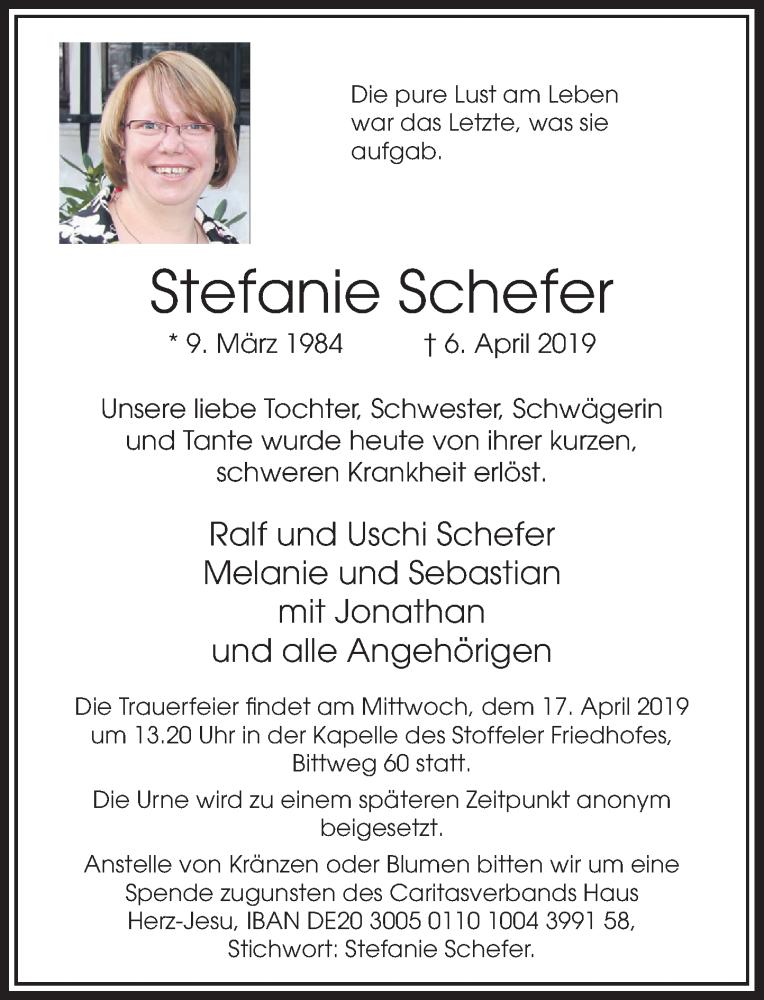 Anzeige von  Stefanie Schefer