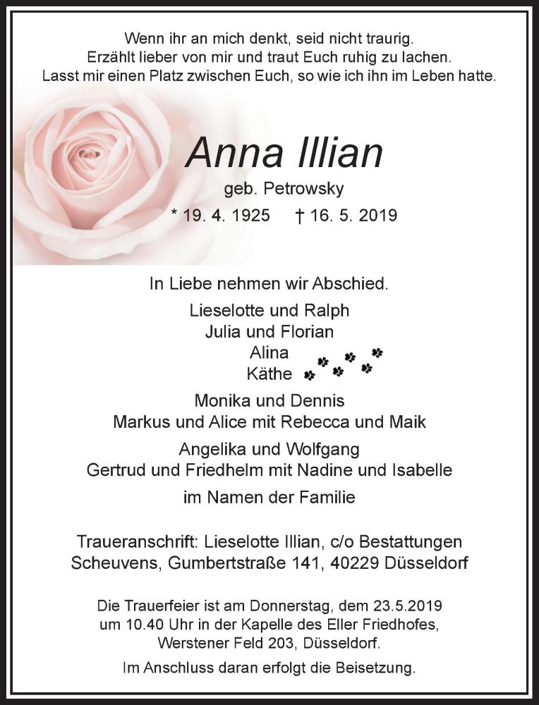 Anzeige von  Anna Illian