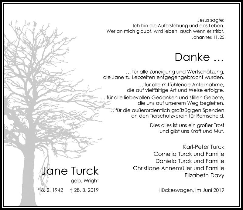 Anzeige von  Jane Turck