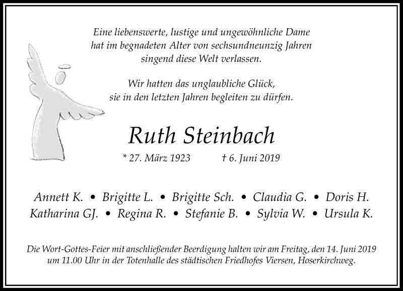 Anzeige von  Ruth Steinbach