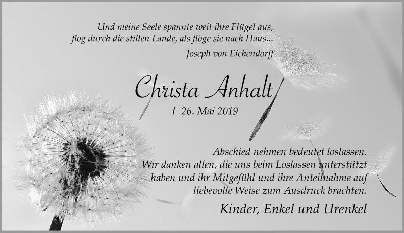 Anzeige von  Cheista Anhalt