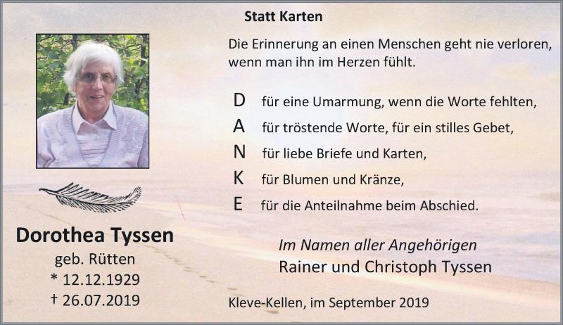 Anzeige von  Dorothea Tyssen