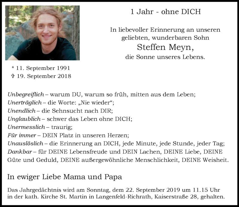 Anzeige von  Steffen Meyn
