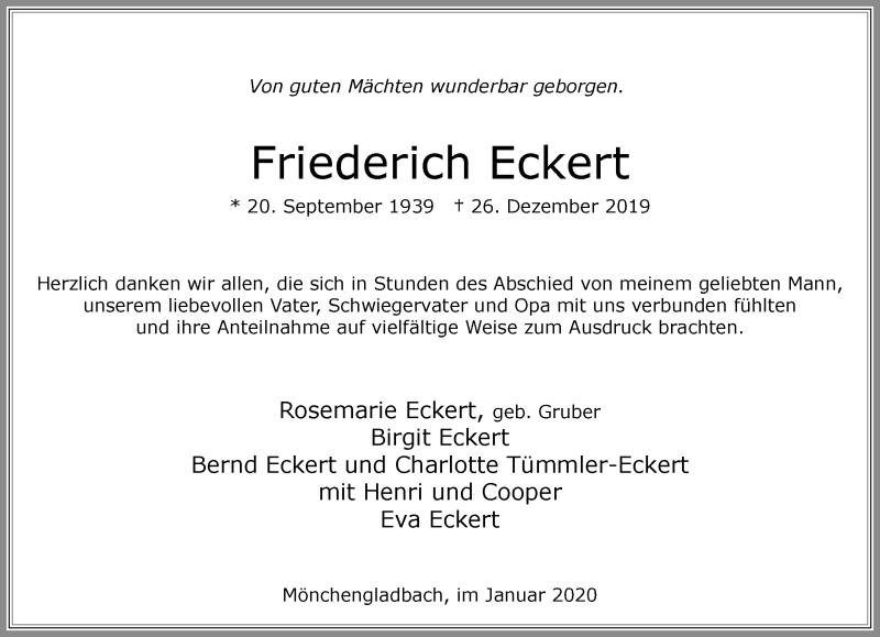 Anzeige von  Friederich Eckert