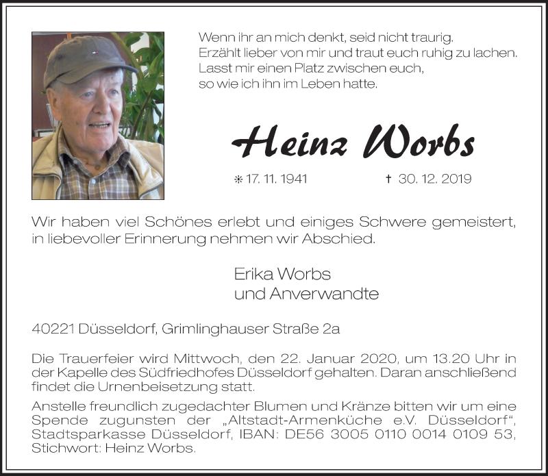 Anzeige von  Heinz Worbs