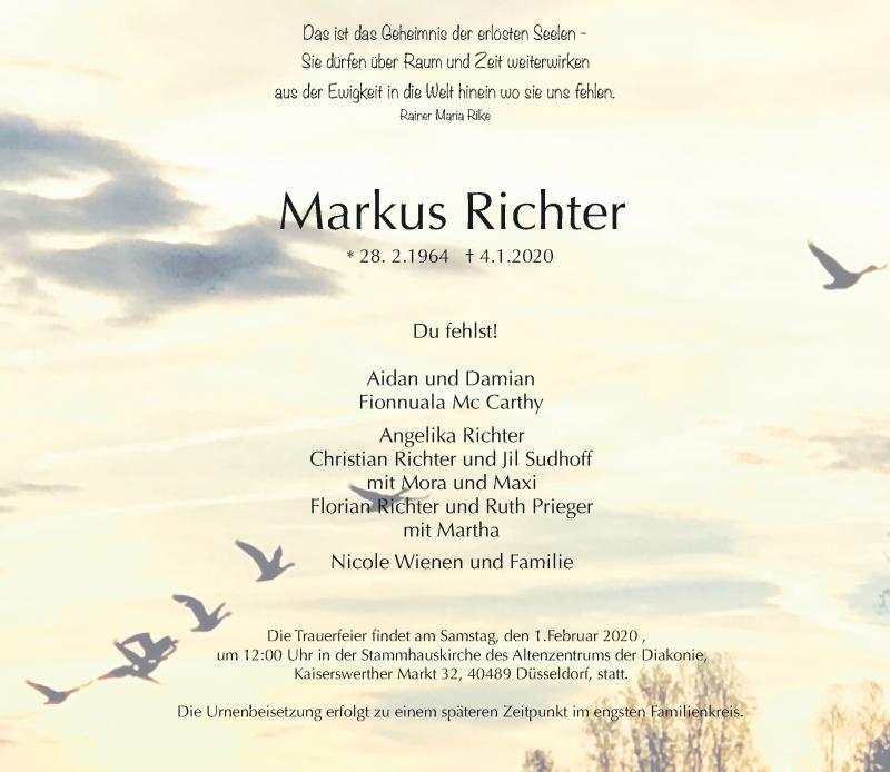 Anzeige von  Markus Richter