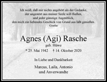 Traueranzeige von Agnes  Rasche von Rheinische Post