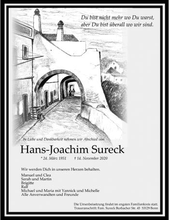 Traueranzeige von Hans-Joachim Sureck von Rheinische Post