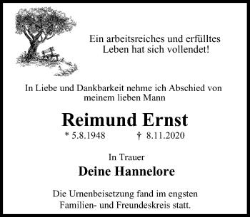 Traueranzeige von Reimund Ernst von Rheinische Post