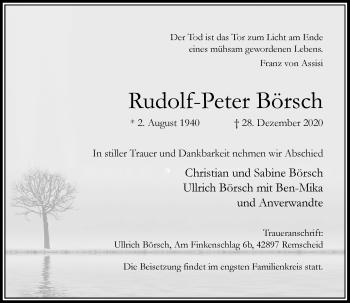 Traueranzeige von Rudolf-Peter Börsch von Rheinische Post