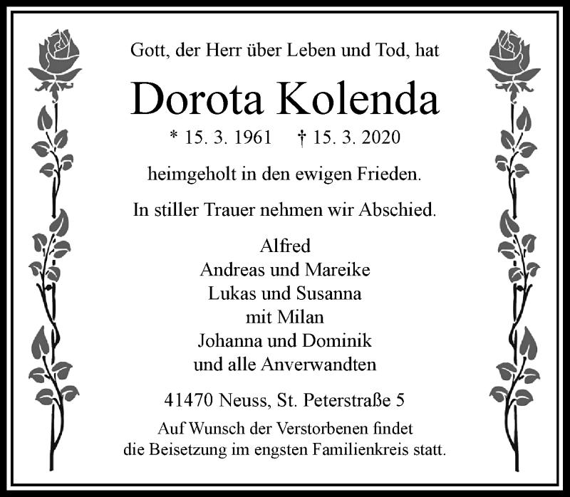 Anzeige von  Dorota Kolenda