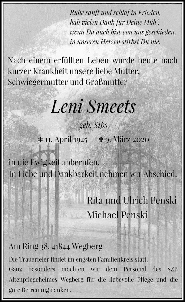 Anzeige von  Leni Smeets
