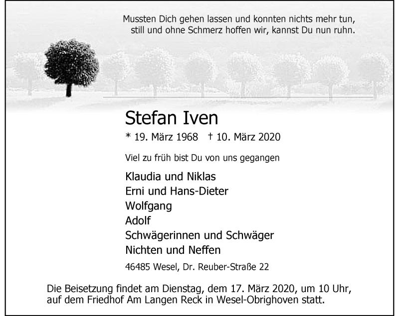 Anzeige von  Stefan Iven