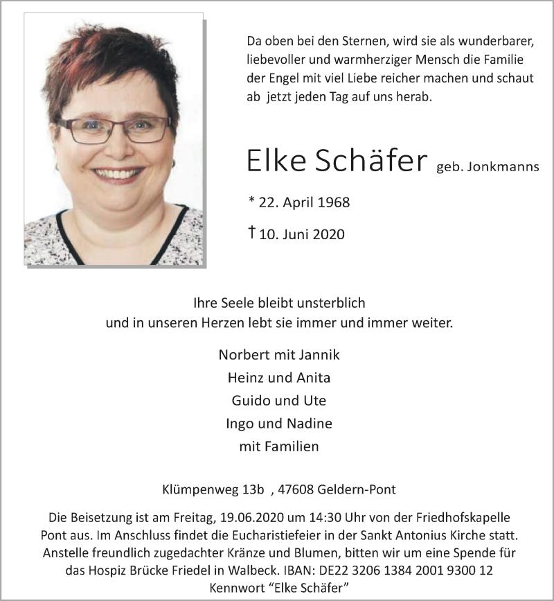Anzeige von  Elke Schäfer