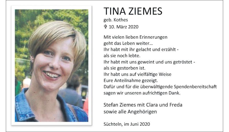 Anzeige von  Tina Ziemes