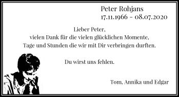 Traueranzeige von Peter Rohjans von Rheinische Post