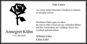 Traueranzeige von Annegret Kühn von Rheinische Post