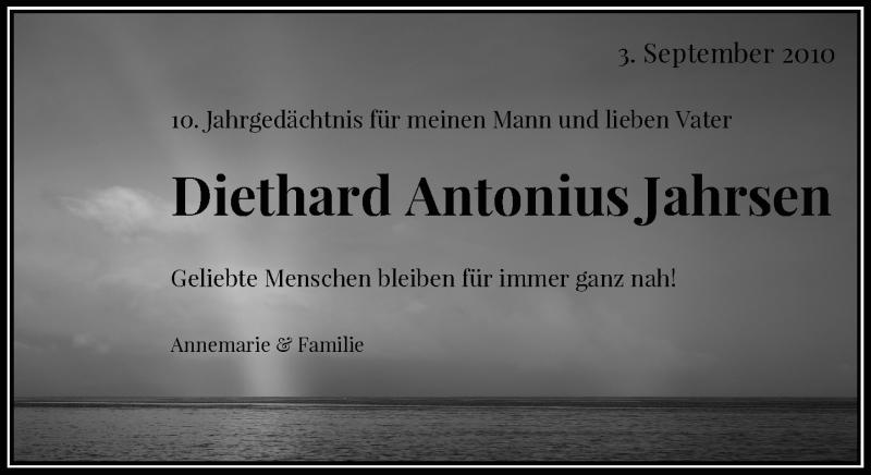 Traueranzeige für Diethard Antonius Jahrsen vom 05.09.2020 aus Rheinische Post