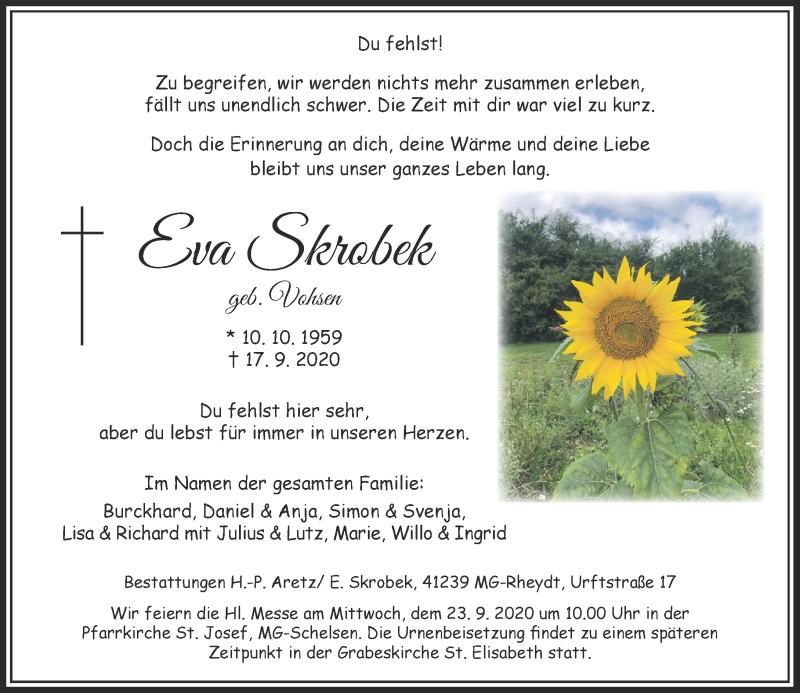 Anzeige von  Eva Skrobek