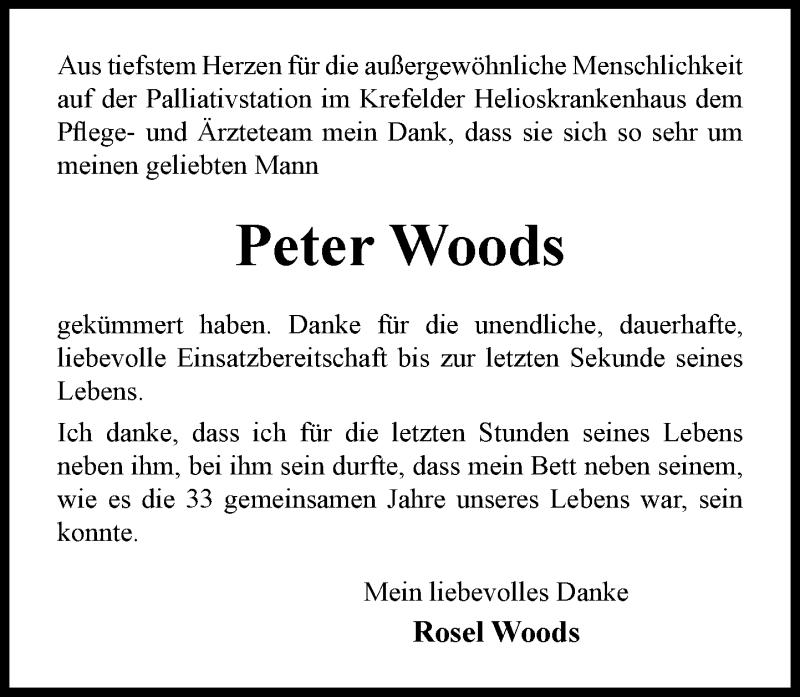Traueranzeige für Peter Woods vom 09.10.2021 aus Rheinische Post