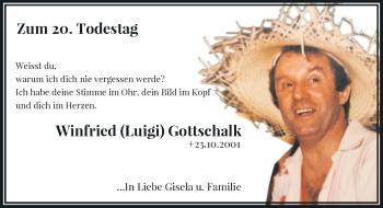 Traueranzeige von Winfried  Gottschalk von Rheinische Post