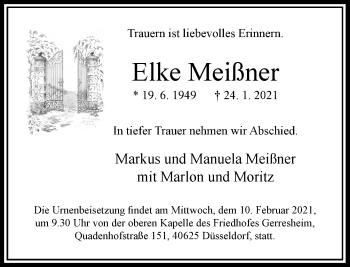 Traueranzeige von Elke Meißner von Rheinische Post