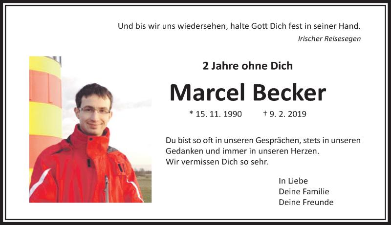 Traueranzeige für Marcel Becker vom 06.02.2021 aus Rheinische Post