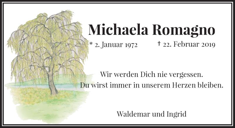 Traueranzeige für Michaela Romagno vom 27.02.2021 aus Rheinische Post