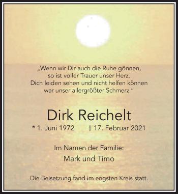 Traueranzeige von Dirk Reichelt von Rheinische Post