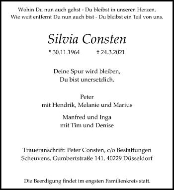 Traueranzeige von Silvia Consten von Rheinische Post
