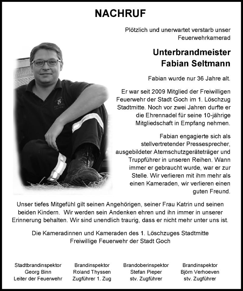 Traueranzeige für Fabian Seltmann vom 17.04.2021 aus Rheinische Post