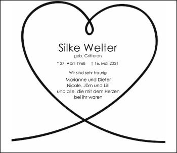 Traueranzeige von Silke Welter von Rheinische Post