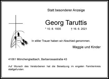 Traueranzeige von Georg Taruttis von Rheinische Post